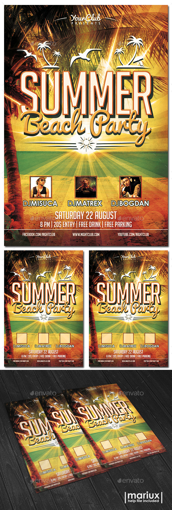 GraphicRiver Summer Beach Party Flyer 11648098