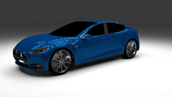 Tesla Model S P85 - 3DOcean Item for Sale