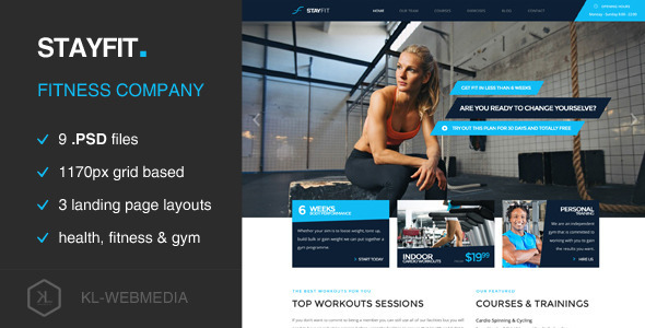 Stayfit - Fitness PSD Template