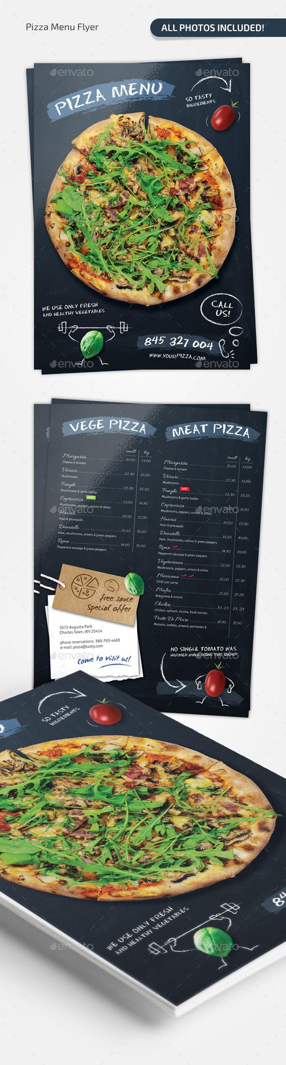 GraphicRiver Pizza Chalkboard Menu 11648273