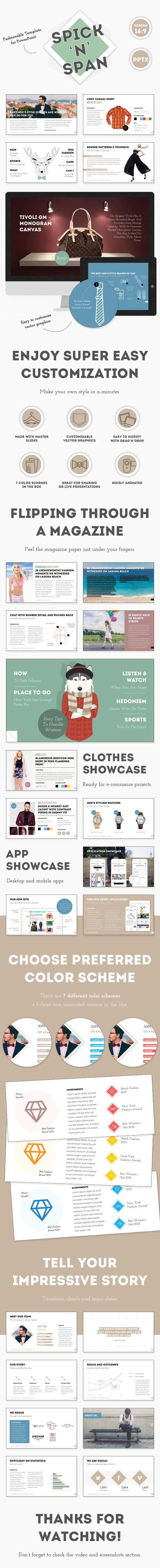 GraphicRiver Spick and Span Fashionable PowerPoint Template 11648455