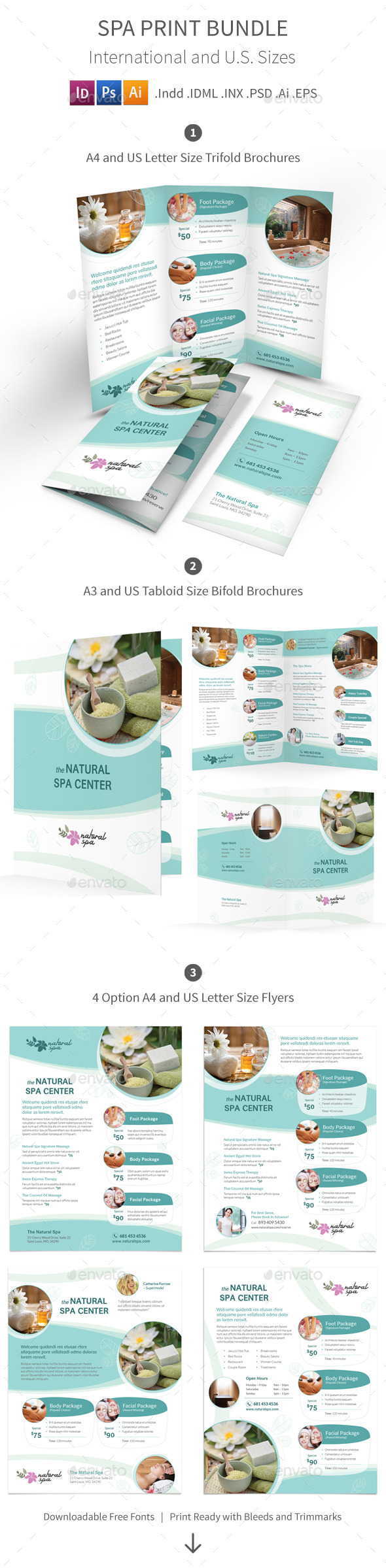 GraphicRiver Spa Print Bundle 11648719