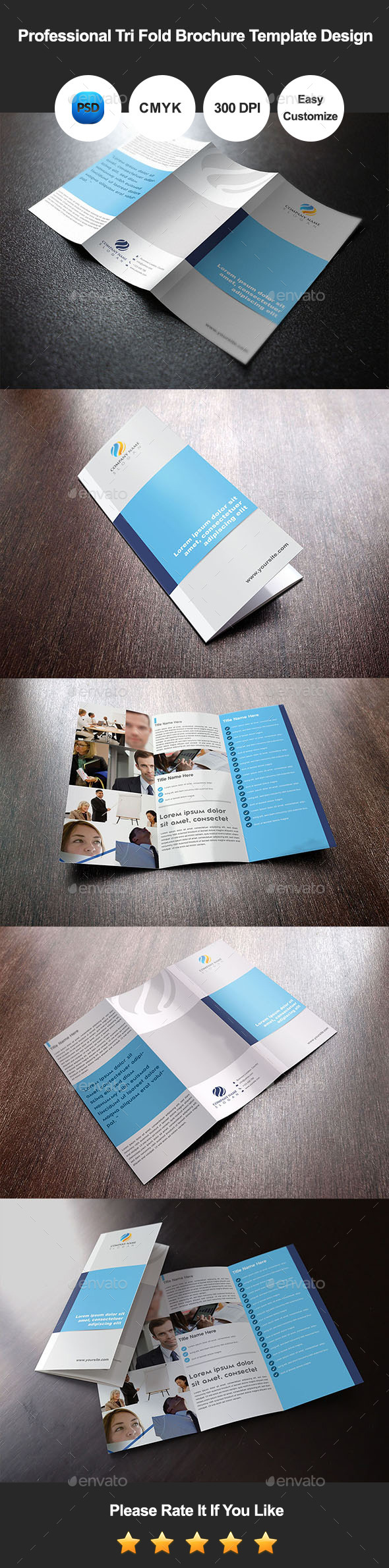 GraphicRiver Professional Tri Fold Brochure Template Design 11596031