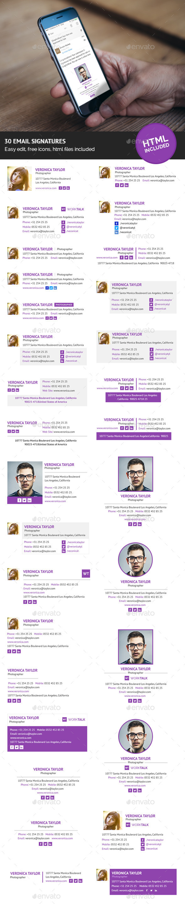 GraphicRiver 30 Email Signatures Html Included 11649224