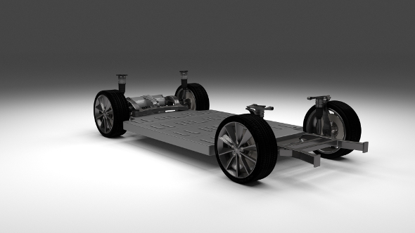 3DOcean Tesla Model S Chassis 11649260