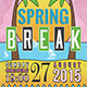 Spring Break Flyer Template