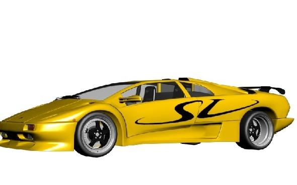 Lamborghini Diablo SV  - 3DOcean Item for Sale