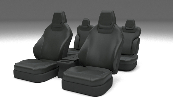 3DOcean Tesla Model S Seats Dark 11649399