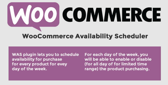 CodeCanyon WooCommerce Availability Scheduler 11649604