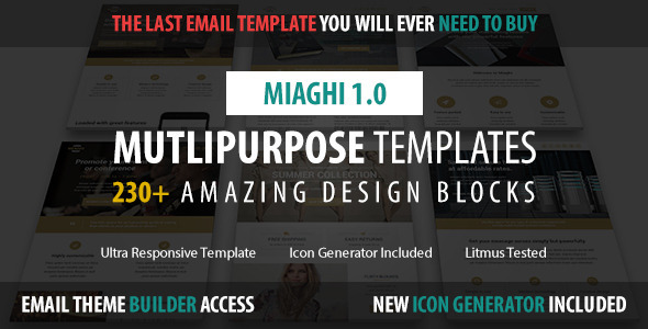 ThemeForest Miaghi Multipurpose Email & Builder Access 11650017