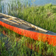 red canoe with wooden paddles - PhotoDune Item for Sale