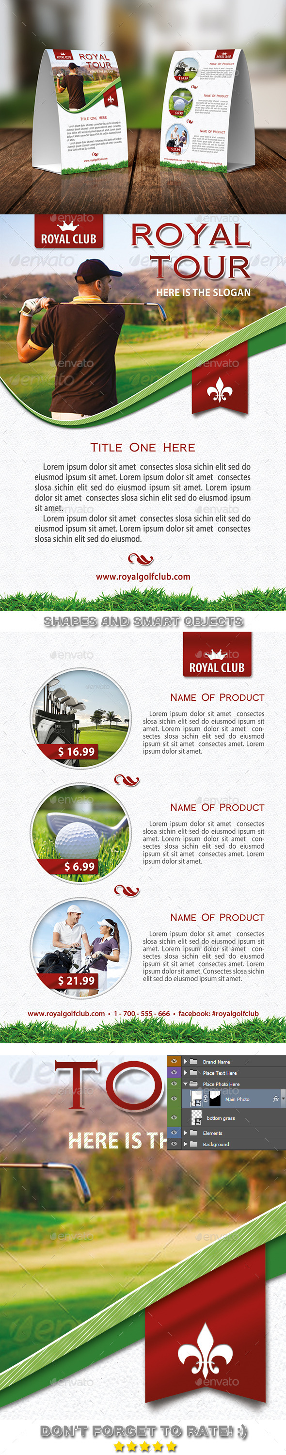 GraphicRiver Golf Tournament Table Tent Template 08 11650297