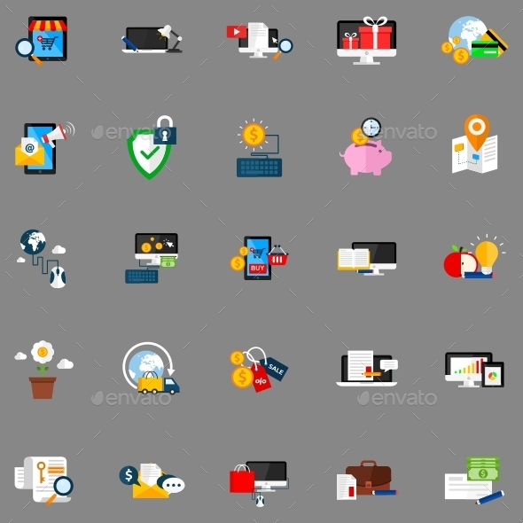GraphicRiver Conceptual Flat Icons 11650380