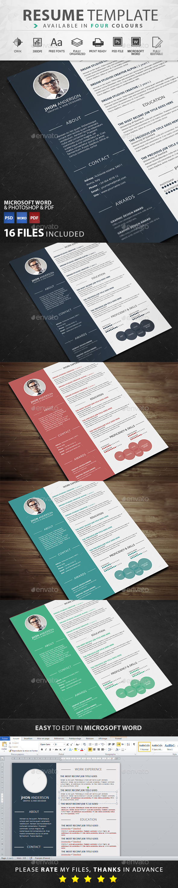 GraphicRiver Resume 11650509