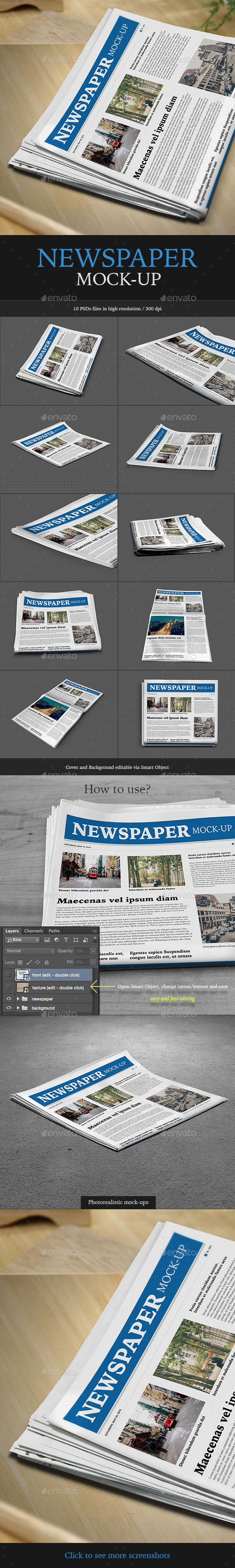 GraphicRiver Newspaper Mock-up 11650840