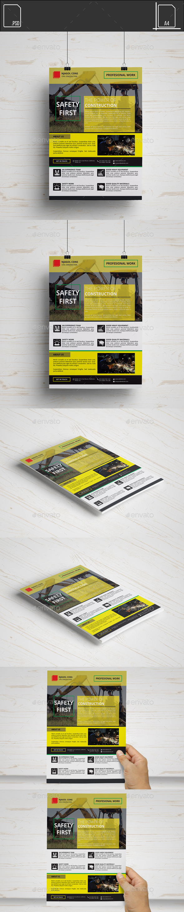 GraphicRiver Flyer Construction Company 11650946