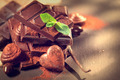 Chocolates assortment. Praline chocolate sweets - PhotoDune Item for Sale
