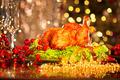Christmas table setting with turkey. Christmas dinner - PhotoDune Item for Sale