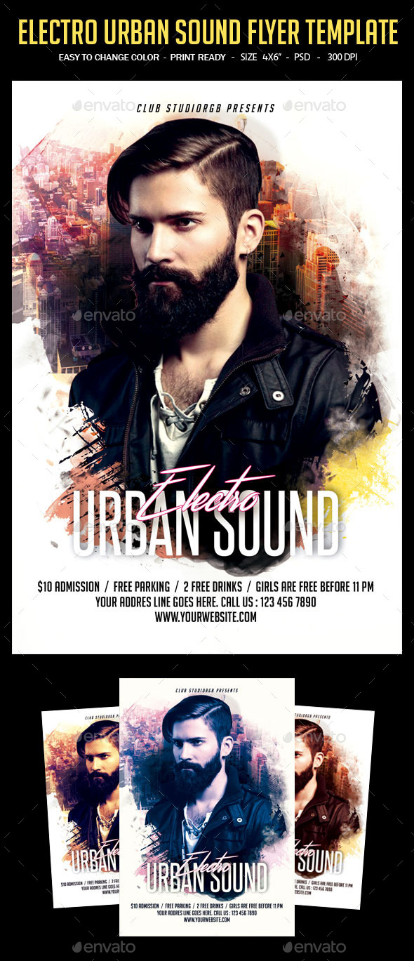 GraphicRiver Electro Urban Sound Flyer Template 11651012
