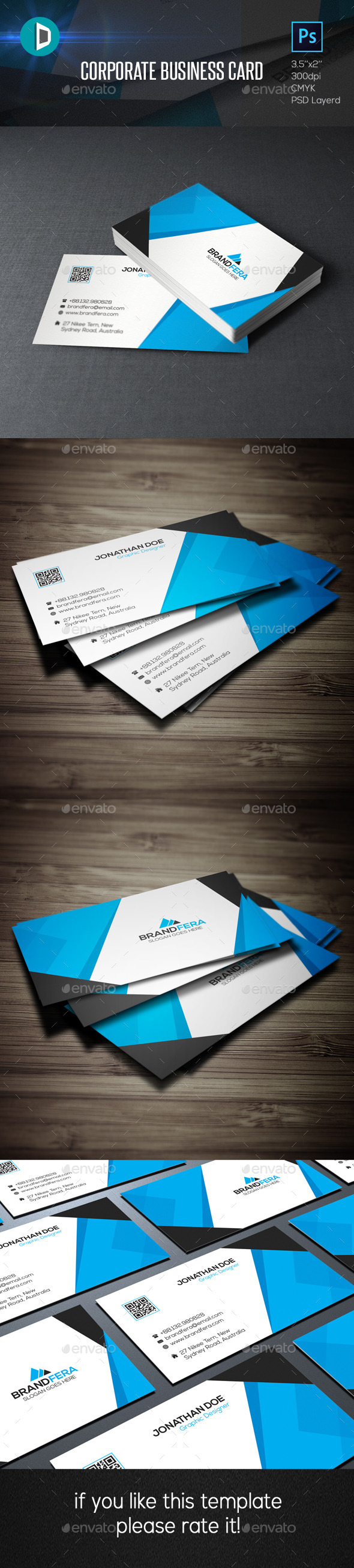 GraphicRiver Corporate Business Card 11651694
