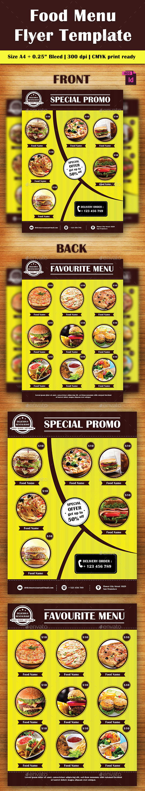 Food Flyer Template Vol. 3