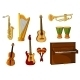 Set of Various Musical Instruments - GraphicRiver Item for Sale