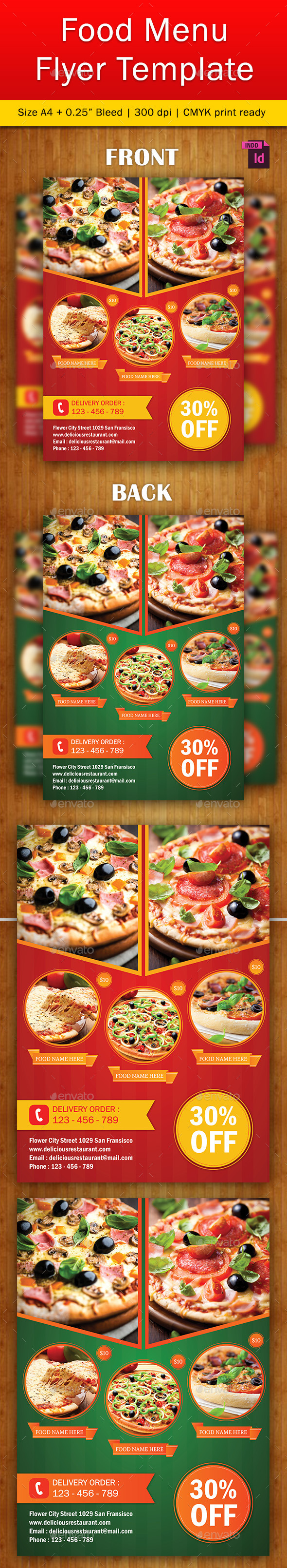 Food Flyer Template Vol. 4