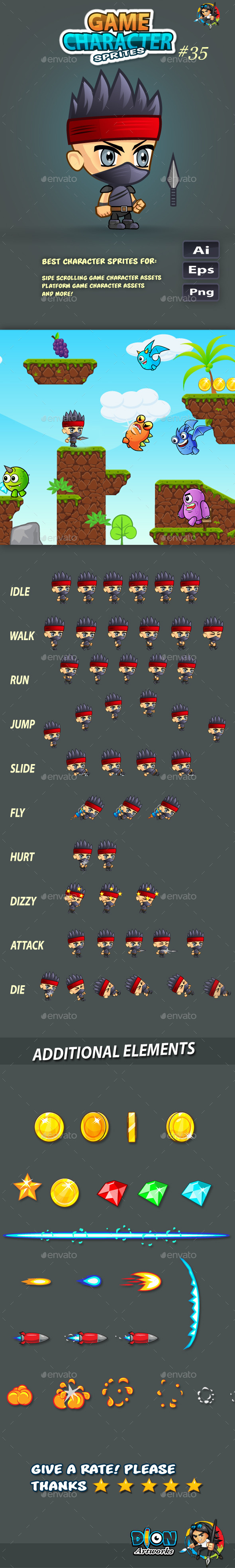 GraphicRiver 2D Game Character Sprites 35 11652332
