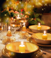 Christmas dinner table  with christmas mood - PhotoDune Item for Sale