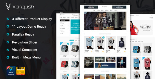 Vanquish Multi Product Display eCommerce Theme
