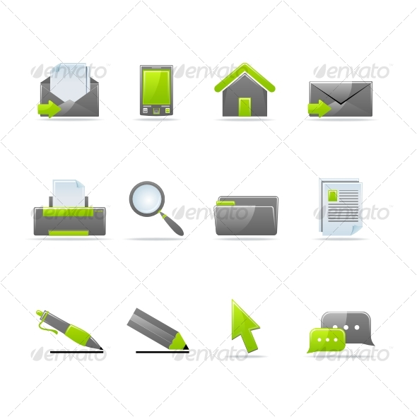 Glossy icon set 1 - Miscellaneous Icons