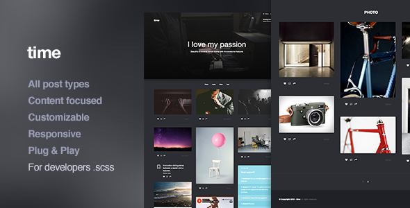 ThemeForest Time Responsive Portfolio Tumblr Theme 11215231