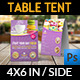 Cafe and Restaurant Table Tent Vol.6 - GraphicRiver Item for Sale