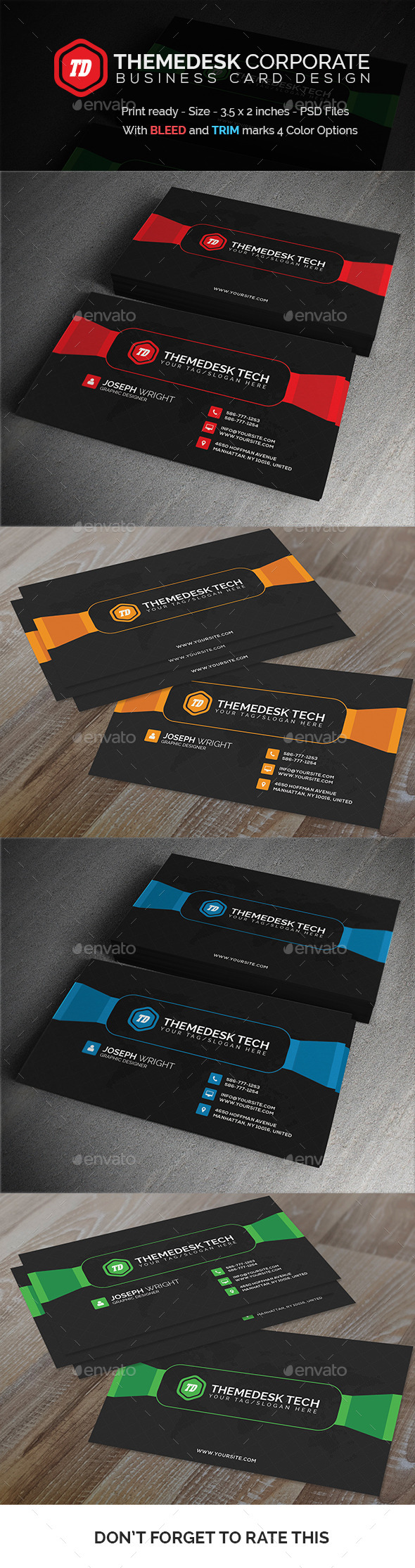 GraphicRiver ThemeDesk Corporate Business Card 11629489