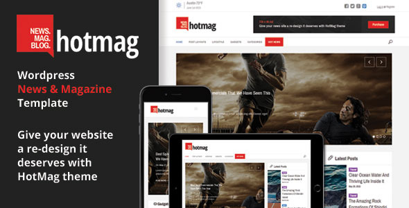 hotmag responsive wordpress news magazine and blog template with custom elements wordpress. Black Bedroom Furniture Sets. Home Design Ideas