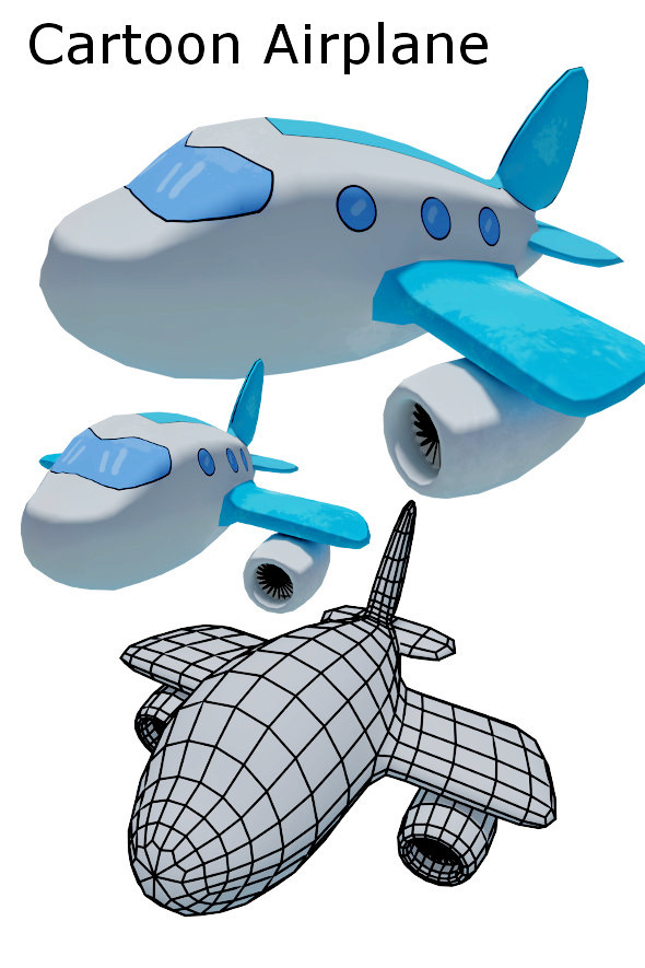 3DOcean Cartoon Airplane 11657640