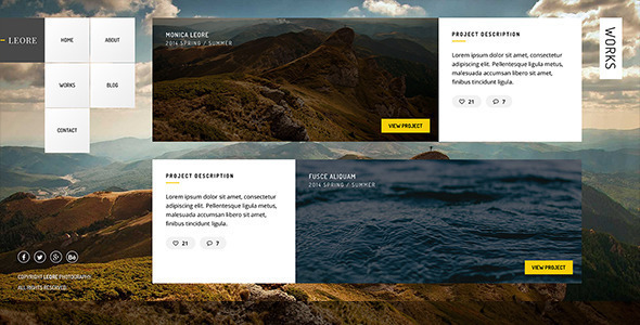 ThemeForest Leore Creative Photography Wordpress Theme 11657981