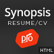 Synopsis - Resume/CV and Portfolio Template - ThemeForest Item for Sale