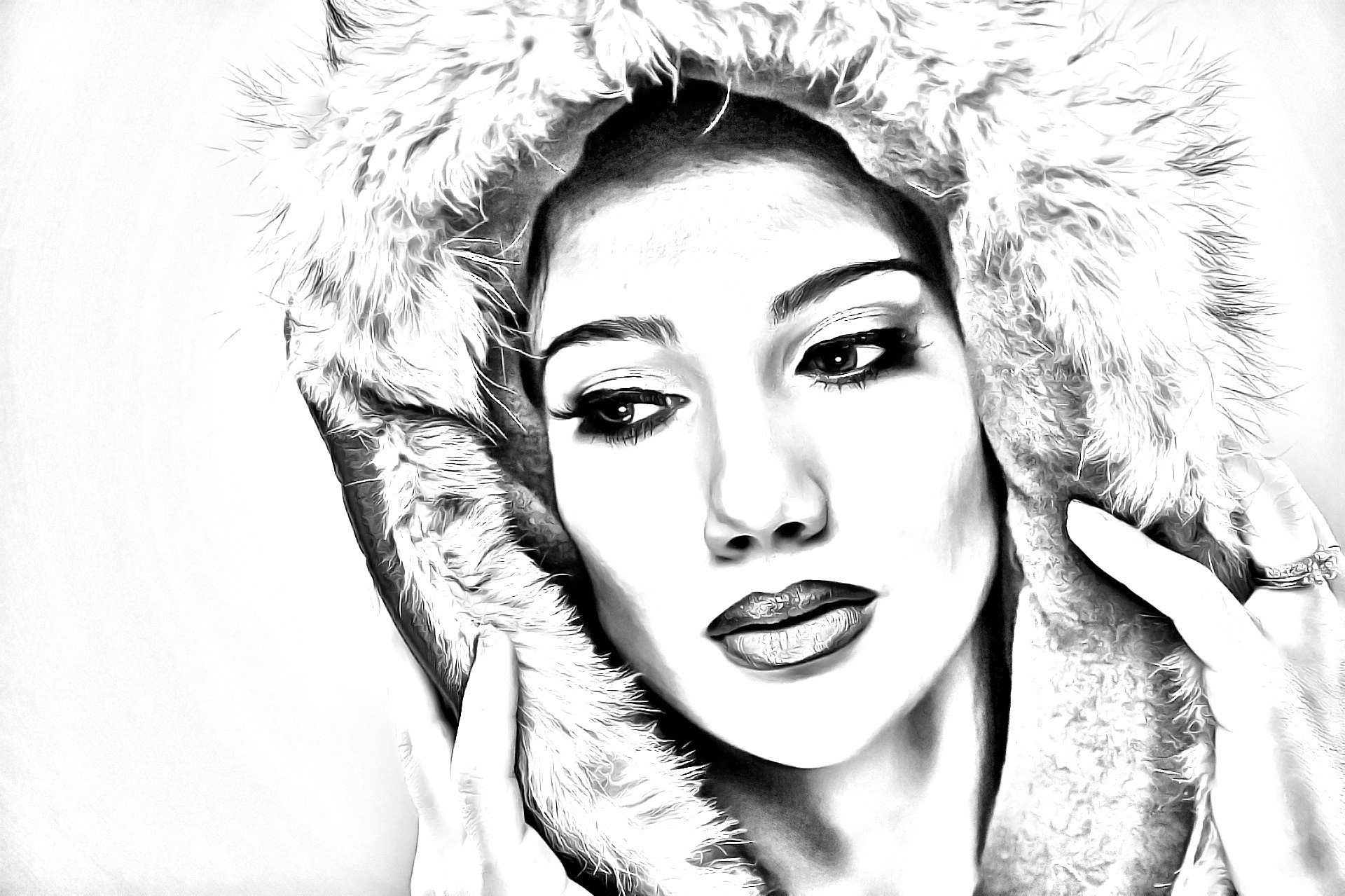 Photoshop Photo Line Art Effect : Pencil drawing effect photoshop action by shinypixel