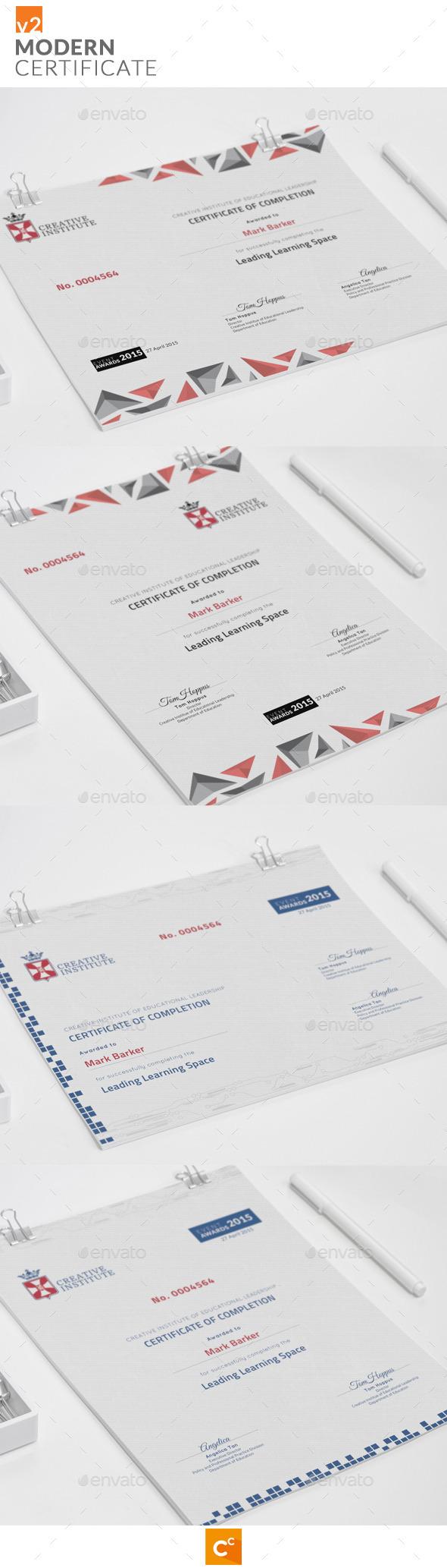 GraphicRiver Modern Certificate v2 11417367