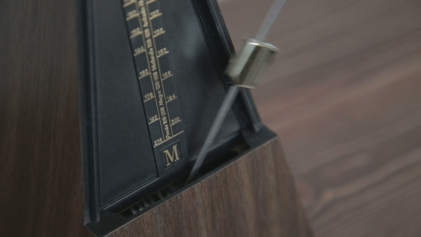 Color Shot Of a Vintage Metronome