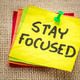 stay focused reminder on a sticky note - PhotoDune Item for Sale