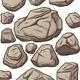 Cartoon Boulders - GraphicRiver Item for Sale