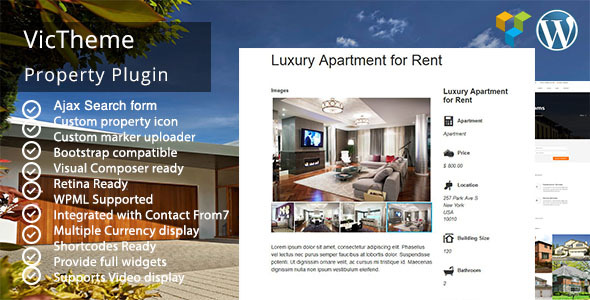 CodeCanyon VicTheme Property Plugin 11646102