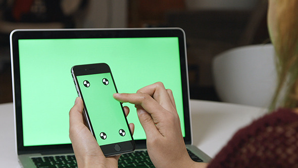 Using Phone with Green Screen Laptop