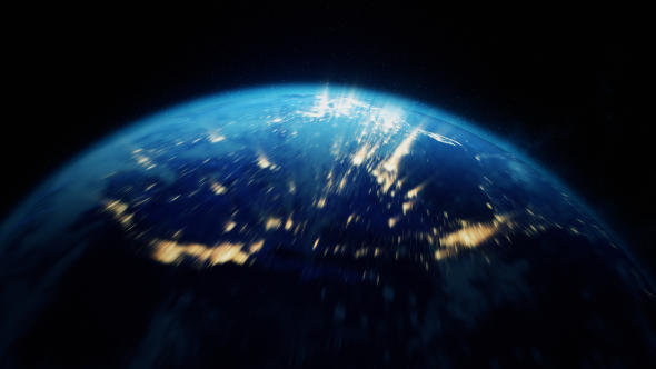 AE���� ��Ƶ�ز� ��ɫ�������Ŵ�չʾ Earth Zoom 11662605