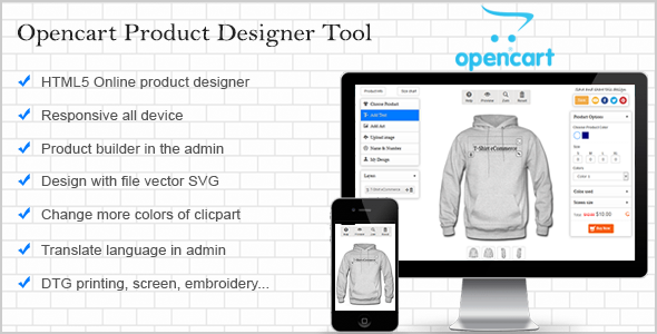 CodeCanyon Opencart Custom Product Designer 11662636