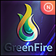 Abstract Fire Green