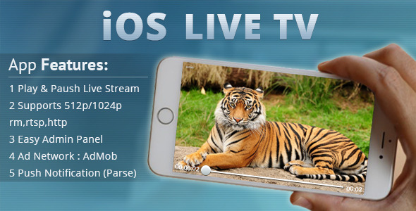 iOS Live Tv - CodeCanyon Item for Sale