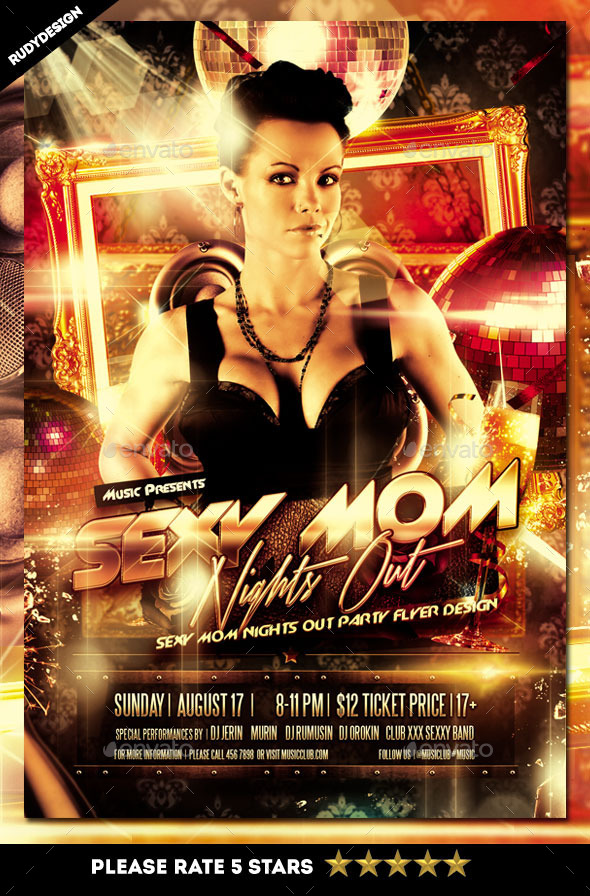 Sexy Mom Nights Out Party Flyer